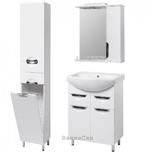Комплект мебели ванный гарнитур 55 см КВЕЛЛ ГРАЦИЯ 19496 - 18930 - 22474