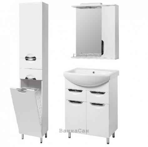Комплект мебели ванный гарнитур 55 см КВЕЛЛ ГРАЦИЯ 19496 - 18930 - 22474, фото 2