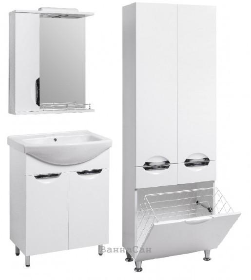 Комплект меблів ванний гарнітур 60 см з розеткою КВЕЛЛ ГРАЦІЯ 21774 - 22383 - 21857