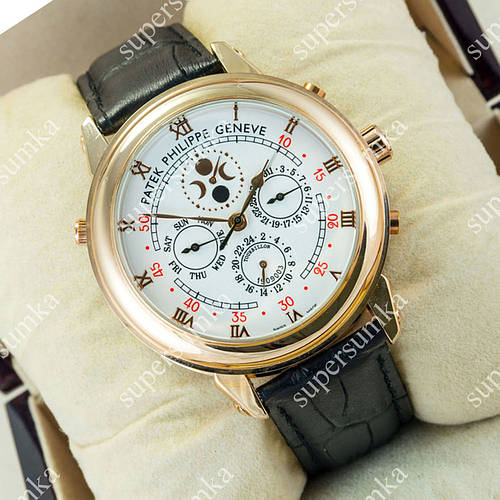 Деловые наручные часы Patek Philippe Sky Moon Black/Gold/White 1959