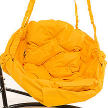 Садовое кресло качеля Kospa на подставке прямоугольная подушка 100 кг - 80 см Желтый, фото 3