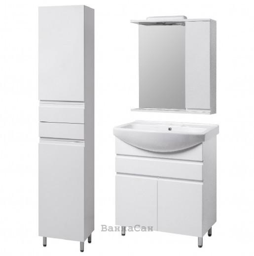 Комплект мебели ванный гарнитур 60 см с розеткой КВЕЛЛ КАНТРИ 22243-22252-22262
