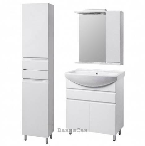 Комплект меблів ванний гарнітур 60 см з розеткою КВЕЛЛ КАНТРІ 22243-22252-22262, фото 2
