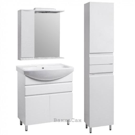 Комплект меблів ванний гарнітур 65 см з МДФ і ДСП КВЕЛЛ КАНТРІ 22244-22253-22261