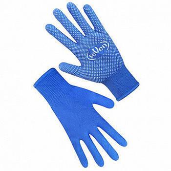 Рукавички робочі синтетичні сині (сірі) з ПВХ крапкою (69057)(69054)