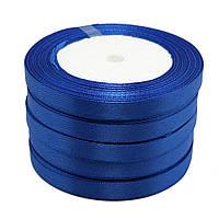 Лента атласная темно-синяя 1 см 23 м/бобина