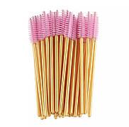 Щеточка для ресниц и бровей Золото+ розовый