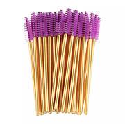 Щеточка для ресниц и бровей Золото+ фиолетовый