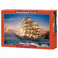 """Пазлы """"Корабль на закате солнца"""", 1500 эл С-151431, Castorland"""