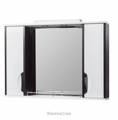Зеркало в ванную 85 см контрастное КВЕЛ Принц Z11 Принц 85 КВЕЛ, фото 2