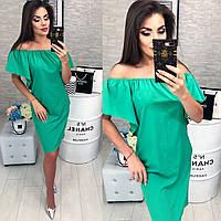 Стильное платье, модель 114, цвет Зеленый