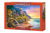 """Пазлы """"Маяк на берегу океана"""", 1000 элементов С-104161, Castorland"""