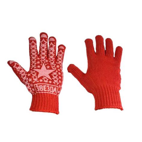 Перчатки робочие ХБ Звезда Алиско красная, фото 2