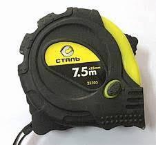 Рулетка вимірювальна 7.5мх25мм прогумовані вставки 3 стопа Сталь (38317) (22204)