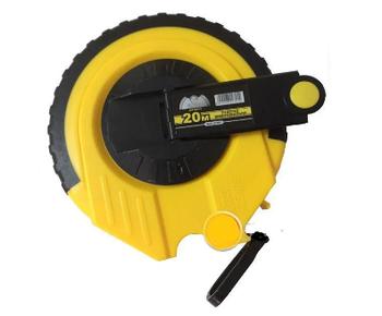 Рулетка вимірювальна посилена полотно зі скловолокна 20м Сталь (44507)