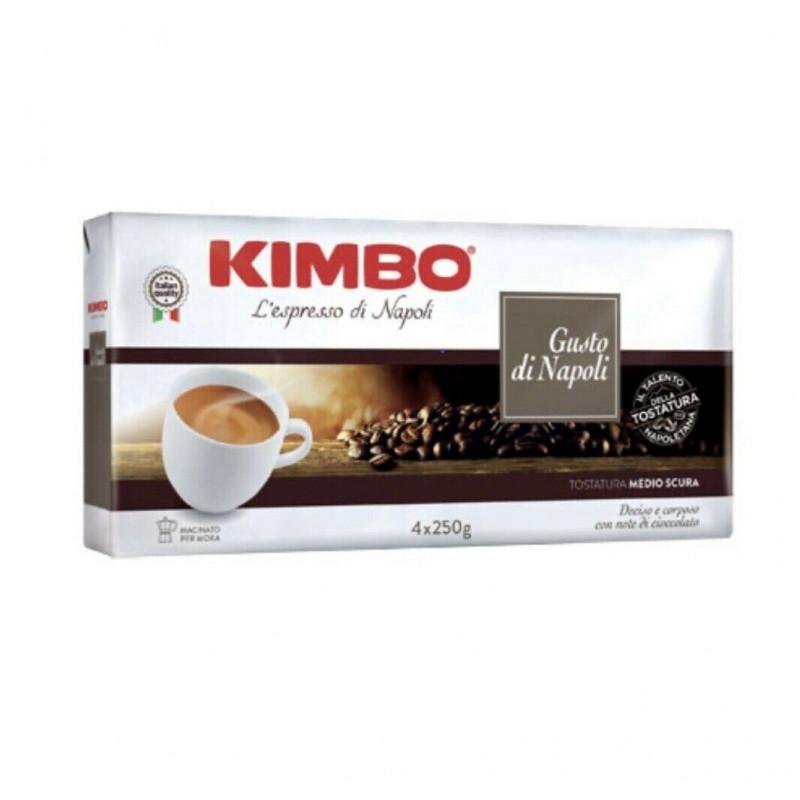 Італійська кава мелена Kimbo Gusto di Napoli, 250г, купаж арабіка і робуста темно-середньої обжарювання