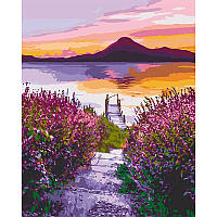 """Набір для розпису """"Озеро Атітлан.Гватемала"""" 40*50 см 10550-AC"""