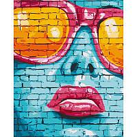 """Набір для розпису """"Street art girl"""" 40*50 см 10248-AC"""