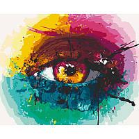 """Набір для розпису """"Райдужне око"""" 40*50 см 10246-AC"""