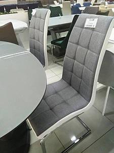 Стул S-117 серый + белый Vetro Mebel, ткань
