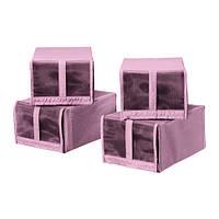 СКУББ Коробка для обуви, розовый 22x34x16 см