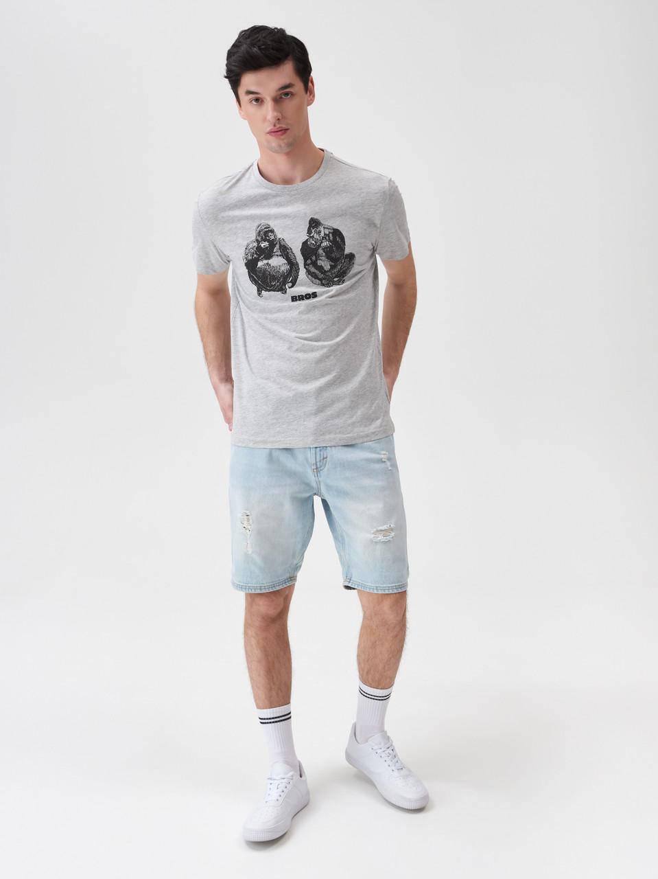"""Чоловіча футболка з принтом """"Горили"""", розмір S. Польща"""