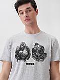 """Чоловіча футболка з принтом """"Горили"""", розмір S. Польща, фото 3"""