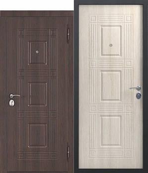 Двері мет. Вікторія Темний кипарис (860 мм) ліва (2 замка)