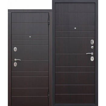 Двері мет. Барселона венге (860 мм) ліва (Rigger, мін вата, 2 замка)