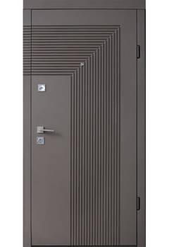 Двері мет. Berez Standard, 85х204, R-відк., Хром, Mokko Оксамит шоколад