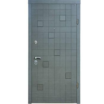 Двері сталеві Straj Proof/Berez PLUS, 87х205, R-відк., Хром, 1ст. PF дуб темн., 2ст. vinдуб темн.