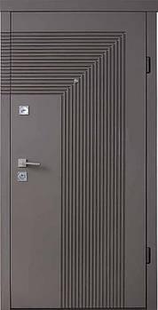 Двері мет. Berez Standard Mokko хром. бархат шоколад R-відкр. (950*2040)