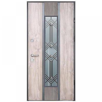 Двері мет. Stability 1ст Ерідан+3д+Рt+корзина+решітка.2ст ерідан+3д дуб арбалед праві 95*204(Страж)