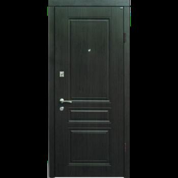 Двері мет. Berez, 95х204, L-відк., Хром, 1cт Рубін венге, 2ст Рубін біле дерево