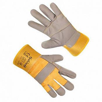 Рукавиці робочі комбіновані БП/шкіра утеплена S-T08F (69507)(seVen)