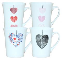 Чашка 340мл Серденько (040-01-18)