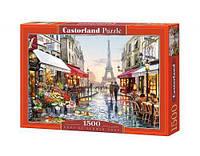 """Пазлы """"Цветочный магазин в Париже"""", 1500 эл C-151288, Castorland"""