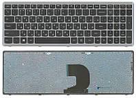 Клавиатура для ноутбука Lenovo Ideapad P500, Z500, Z500A, Z500G, Z500T Black, (Gray Frame) RU