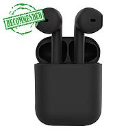 Бездротові сенсорні навушники TWS i12 Pods Чорні