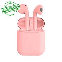Бездротові сенсорні навушники TWS i12 Pods Рожеві