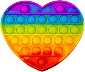 М'яка іграшка Поп іт Нескінченна пупырка антистрес серце Pop It fidget (Без Повернення)