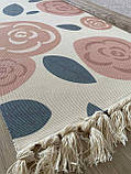 Бесплатная доставка! Хлопковый ретро коврик с бахромой для дома, фото 4