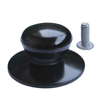 Ручка ебонітова чорна на кришку 35мм (шт) 9941