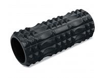 Роллер массажный для йоги пилатеса фитнеса 33 см Zelart Черный FI-5712