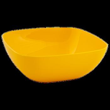 Тарілка (глибока) 150*150*55 (темно-жовтий) (167061) (10)