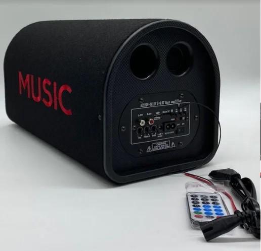 Автомобильная беспроводная колонка 1013, портативная акустика 10, Автомобильный активный сабвуфер с усилителем