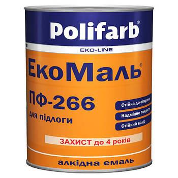 Емаль Polifarb ЕкоМаль ПФ-266 черв.кор. 0,9 кг (Поліфарб)