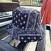 Трендовая панама в принт банданы пейсли paisley print хлопковая панамка унисекс мужская женская, фото 3