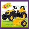 Трактор педальный с прицепом Rolly Toys Kid JCB 12619