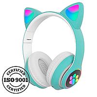 Беспроводные детские наушники Cat Paws STN28 (Зеленый)